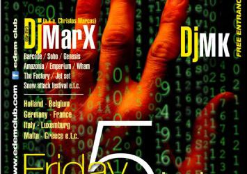 dj Christos Marcos (a.k.a. dj MarX) & dj MK @ edem club – 5/7/2013