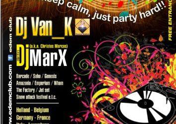 dj Van_K & dj Christos Marcos (a.k.a. dj marX) @ Edem Corfu – 13/7/2013