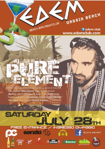 "EDEM CLUB : ""PURE ELEMENT"" – 28/7/2012"