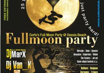 Full moon party: Corfu's Full Moon Party @ Dassia Beach! – 22/7/2013