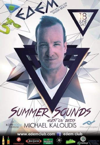 ENJOY THE SUMMER WITH dj MICHAEL KALOUDIS ON THE DECKS – 18/6/2016