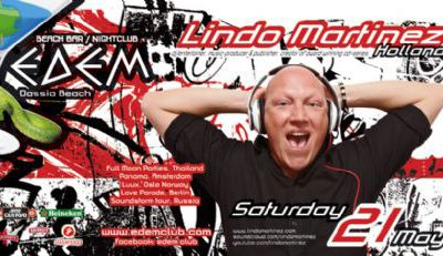 LINDO MARTINEZ @ Edemclub (warm up dj set: Christos Marcos) – 21/5/2011