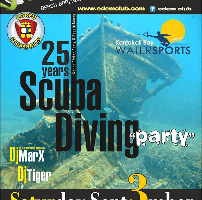 Corfu scubanauts, 25 anniversary – 3/9/2016