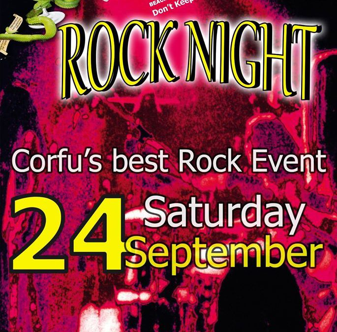 'ROCK NIGHT' – 24/9/2016