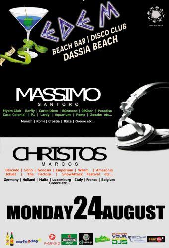 dj Massimo Santoro & Christos Marcos @ Edem club – 24/8/2015