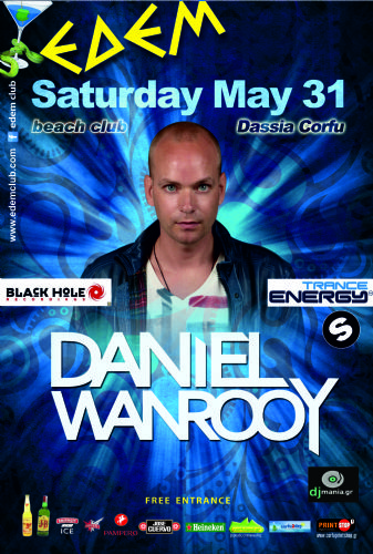 DJ/producer Daniel Wanrooy @ edem club – 31/5/2014