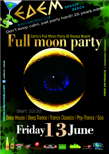 full moon party @ edem club – 13/6/2014