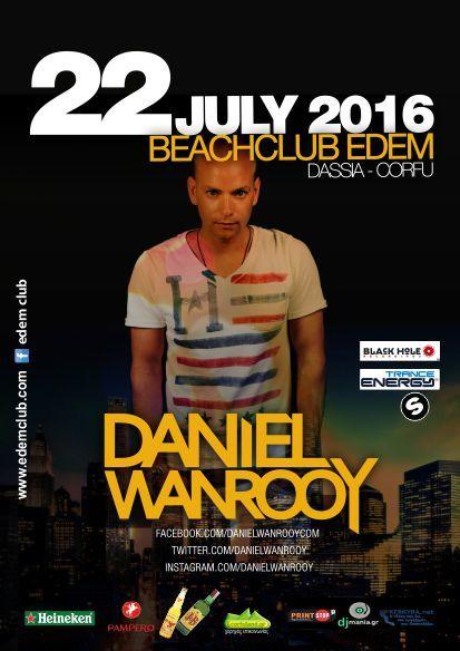 Daniel Wanrooy @ edem club – 22/7/2016