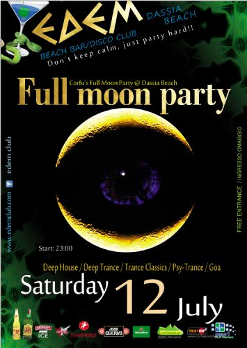full moon party @ edem club – 12/7/2014