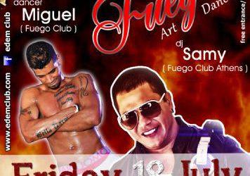 latin night with dj Samy & dancer MIguel (flyer soon) – 18/7/2014
