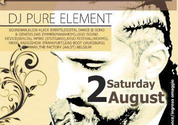 dj Pure Element @ edem club – 2/8/2014