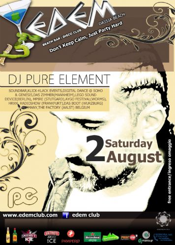dj Pure Element @ edem club – 2/8/2014