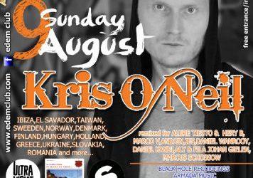KRIS O NEIL @ edem club – 9/8/2014