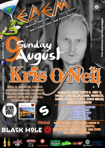 KRIS O NEIL @ edem club – 9/8/2014