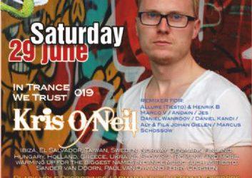KRIS O NEIL @ edem club (Black hole recordings ) – 29/6/2013