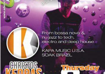 Christos Kedras @ edem club (L.A. U.S.A.) – 8/8/2013
