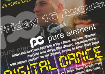 """DIGITAL DANCE"" with dj Pure Element (DE) & dj marX (a.k.a. Christos Marcos) (FR,GR) – 16/8/2013"
