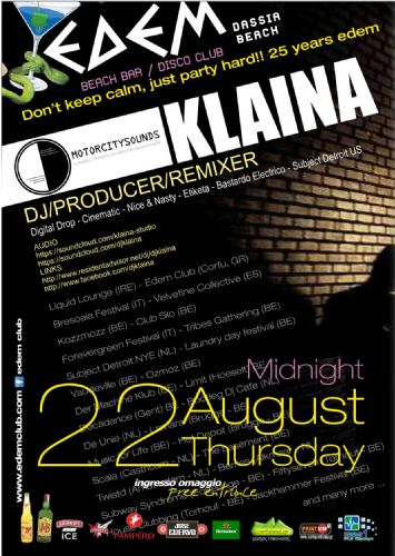 dj/producer : Klaina – 22/8/2013