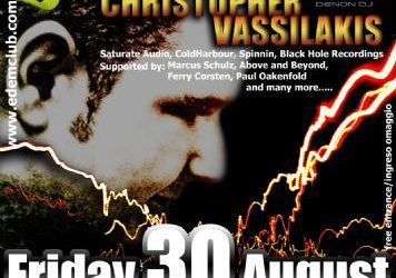 dj/producer : Christopher Vassilakis – 30/8/2013