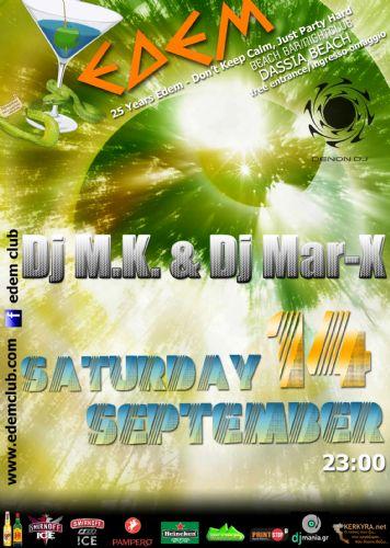 dj M.K. & dj mar-X – 14/9/2013