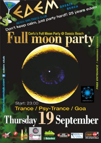 Corfu's Full Moon Party @ Dassia Beach – 19/9/2013