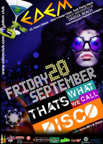 """That's What What We Call Disco"" – 20/9/2013"