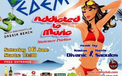 Edem club: First Event, dj/producer Nikos Aronis (STAR FM 88,8) – 16/6/2012