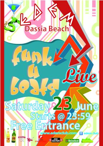 LIVE BAND @ EDEM: Funk U Beats, live – 23/6/2012