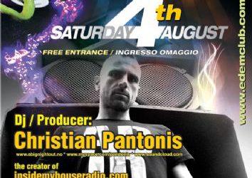 Christian Pandonis @ Edem club (Dassia beach Corfu) – 4/8/2012