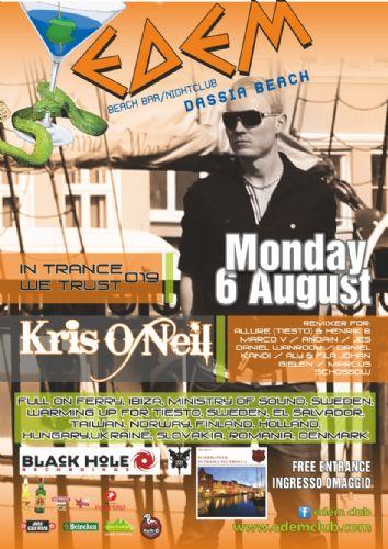 dj/producer Kris O'Neil (black hole recordings) – 6/8/2012