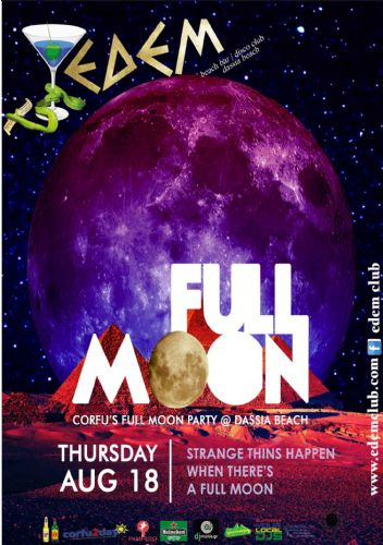 Corfu's Full Moon Party @ Dassia Beach – 18/8/2016