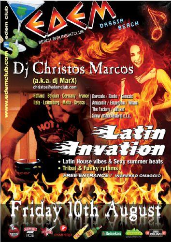 """LATIN INVASION"" @ edem club, With dj Christos Marcos (a.k.a. dj marX) – 10/8/2012"