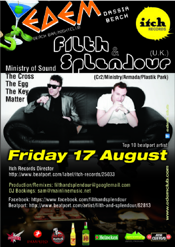 FILTH & SPLENDOUR (U.K.) @ edem club – 17/8/2012