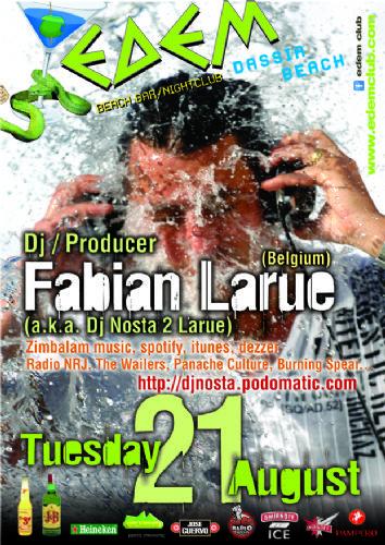 Fabian Larue (a.k.a. dj Nosta 2 Larue) – 21/8/2012