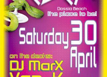Dj Marx & Van K on the decks of EDEM Club – 30/4/2011