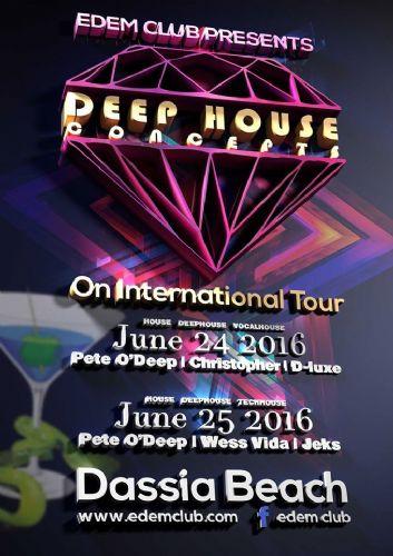 DEEP HOUSE CONCEPTS – INTERNATIONAL TOUR – 24 & 25/6/2016