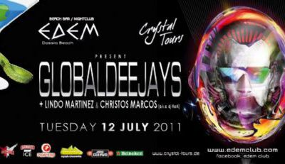 Tuesday 12 July @ edem club: The GLOBALDEEJAYS