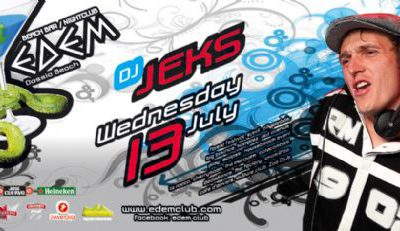 Wednesday 13 July @ edem club: dj Jeks (Belgium)