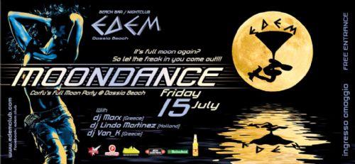 Friday 15 July: Moondance, Corfu's Full Moon Party @ Dassia Beach