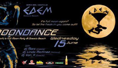 Wednesday: Moondance, Corfu's Full Moon Party @ Dassia Beach – 15/6/2011