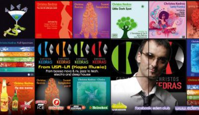 Thursday 28 July @ edem club: Christos Kedras (L.A. / USA)