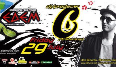 Friday 29 July: dj/producer C6 (Amsterdam)