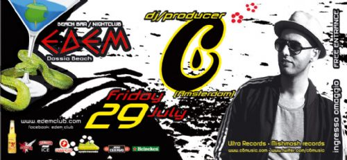 Friday 29 July: dj/producer C6 (Amsterdam)