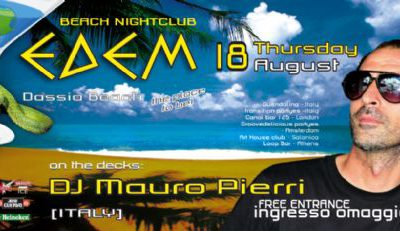 Thursday 18 August: dj Mauro Pierri @ edem club