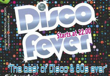"Saturday 10 September: ""DISCO FEVER"""