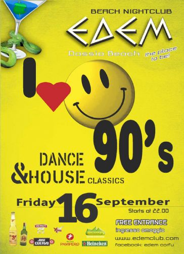 "friday 16 September ""I love the 90s"""