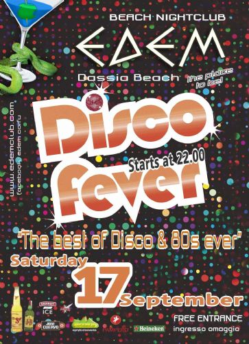 "Saturday 17 September: ""DISCO FEVER"""