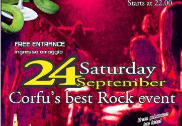 """Saturday 24 September: """"ROCK NIGHT"""""""