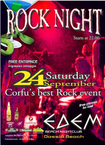 "Saturday 24 September: ""ROCK NIGHT"""