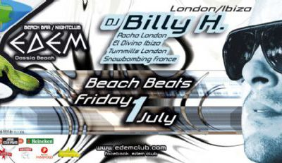Edem club: dj Billy H – 1/7/2011